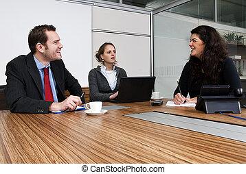 discussão, escritório