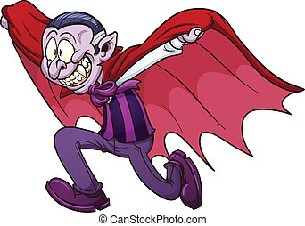 Running vampire - Cartoon running vampire Vector clip art...