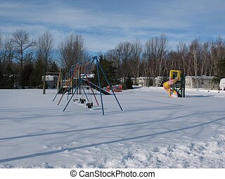 A Playground in Winter