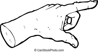 pointing hand sign cartoon