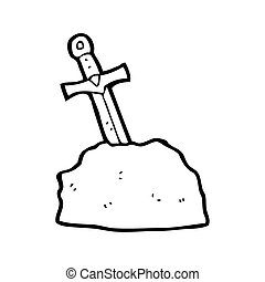 cartoon sword in stone