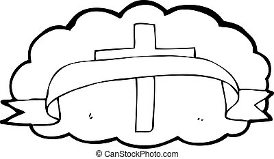 cartoon religious cross symbol