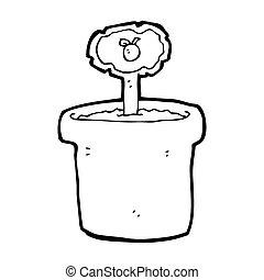 cartoon flowerpot