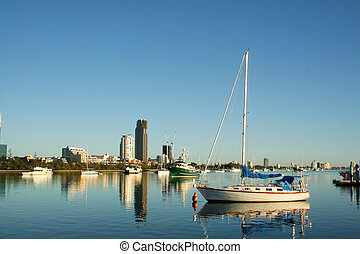 Broadwater Boats Gold Coast - View of the boats on the...