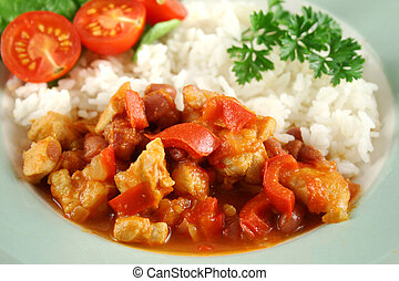 Chicken And Lentil Stew With Rice 3 - Spicy chicken lentil...