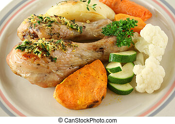 Chicken Drumsticks And Vegetables 4 - Delicious roasted...