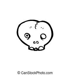 cartoon red skull