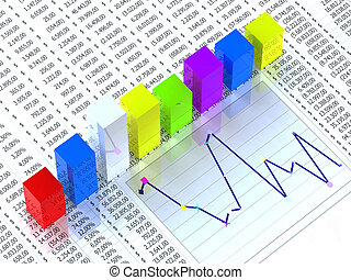 Spreadsheet with collorful graph - Spreadsheet with colorful...
