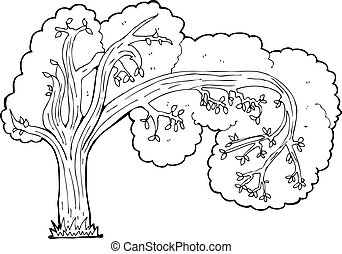 cartoon twisty tree
