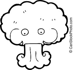 EPS Vector of cartoon cloud blowing wind csp15523443 - Search Clip ...