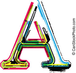 Colorful Grunge LETTER A
