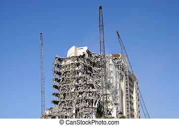 Building demolition - Building under demolition