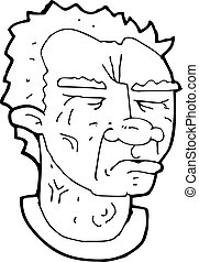 cartoon frowning man