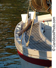Detail on wooden boat