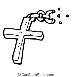 cartoon silver cross