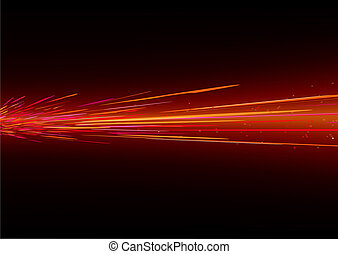 light splashes - futuristic background resembling red motion...