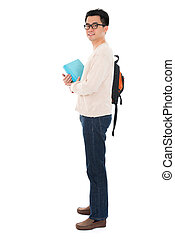 Full length Asian adult student
