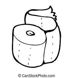 cartoon toilet paper