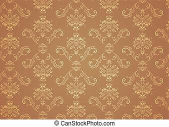 wallpaper Pattern - illustration of elegant Victorian retro...