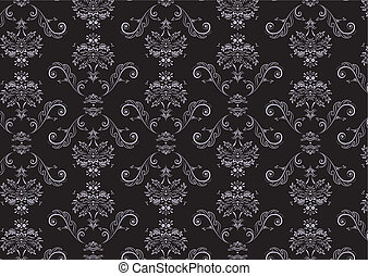 wallpaper Pattern - illustration of elegant Victorian retro...