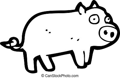 cartoon piglet
