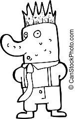 cartoon man with big nose