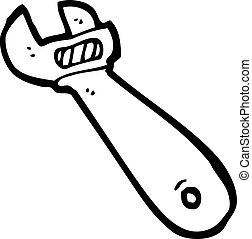 cartoon adjustable spanner