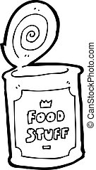 cartoon tinned food
