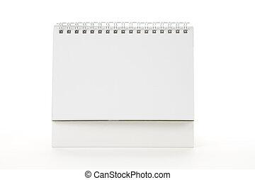 Blank Calendar close up shot