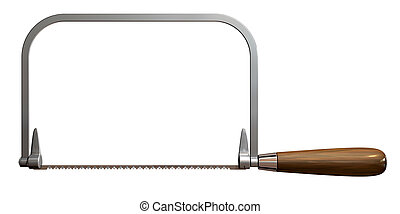 Coping Saw Side - A side view of a regular metal coping saw...