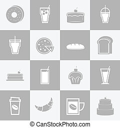 Bakery and drinks elements for coffee shop