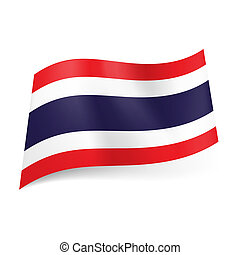 State flag of Thailand. - National flag of Thailand: wide...