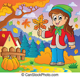 Autumn thematic image 8 - eps10 vector illustration