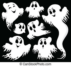 Ghost topic image 1 - eps10 vector illustration