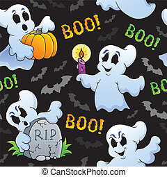Halloween seamless background 4 - eps10 vector illustration