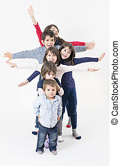 Large Family - Six siblings from a large family