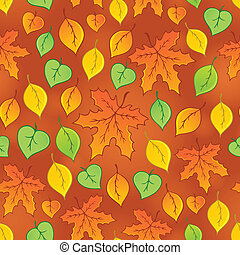 Leafy seamless background 3 - eps10 vector illustration