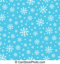 Seamless background snowflakes 2 - eps10 vector...
