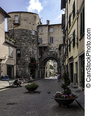 Lucca, Tuscany, Italy Streets - Lucca, Tuscany, Italy old...