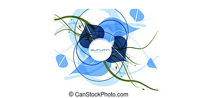 Blue cold abstract vector background