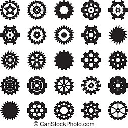 Gear vector set 2 - Gear vector set for your design