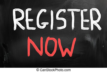 quot;Register nowquot; - Register now