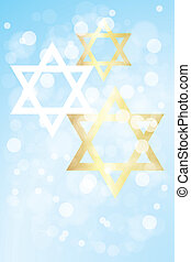 Hanukkah card with copy space - Hanukkah card template...