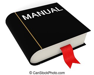 Manual book - Hi-res original 3d rendered computer generated...