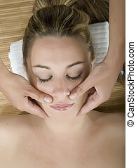 Woman in a day spa
