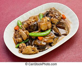 Chinese style mushroom and chicken - Chicken mushroom....