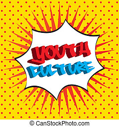 youth culture over dotted background vector illustration