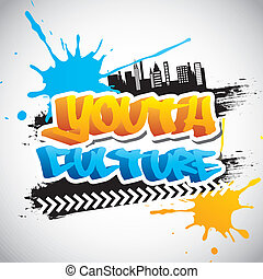 youth culture over gray background vector illustration
