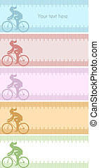 Four silhouette backgrounds - Silhouette background with...