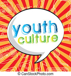 youth culture over grunge background vector illustration
